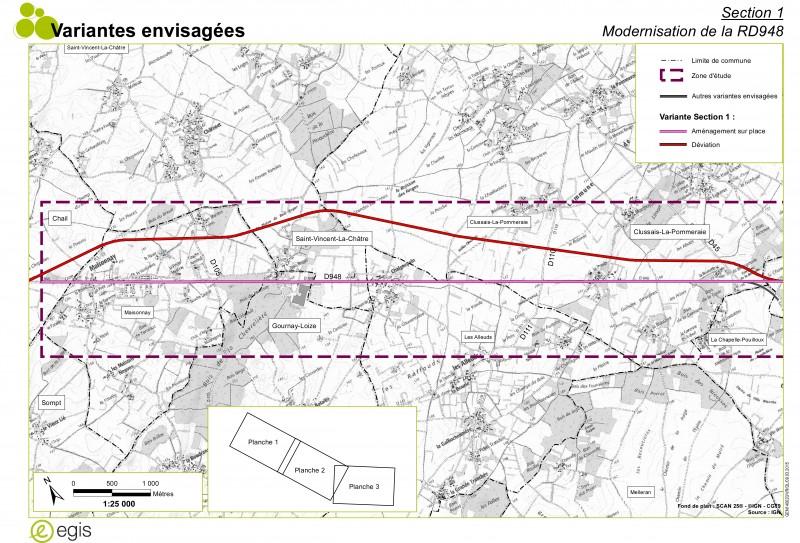 De Maisonnay à Clussais - Les variantes